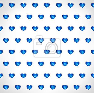 Bezproblemowa geometryczny wielokątne niebieskim tle serca