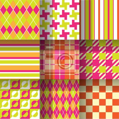 Bezszwowe tło wzór. Próbki wzór wykonany z globalnych kolorów - szybki, prosty edycji koloru