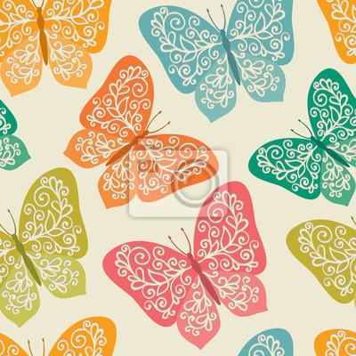 Bezszwowe wzór z motyli