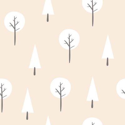 Bezszwowy wzór z abstrakcjonistycznymi drzewami