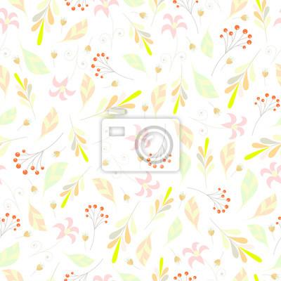 Bezszwowych floral deseniu Tle z kwiatów i leafs