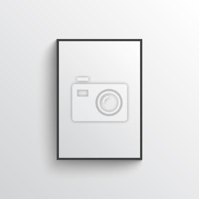 Obraz Białe puste plakat z ramą makiety na szarym murze