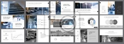 Obraz Białe, szare i czarne elementy infographic prezentacji