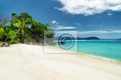 Obraz Biały piasek plaży.