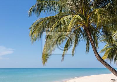 Biały piasek plaży w Koh Chang, popularna wyspa na Zatoce T