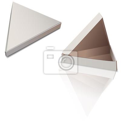 Biały pizzy pudełkowaty szablon odizolowywający na białym tle. Pudełko pod pizzą jest trójramienne. Wektorowa EPS10 ilustracja.