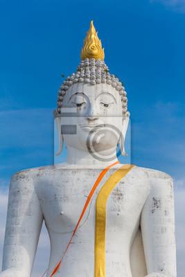 Biały posąg Buddy