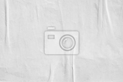 Obraz Biały pusty zmięty papierowy tekstury tło marszcząca stara plakatowa tekstury tła powierzchnia pusta dla teksta