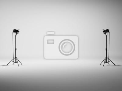Obraz Biały Studio ze światłami