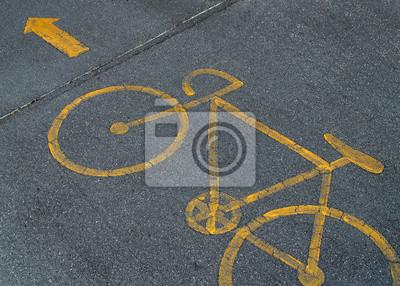 Obraz Bicicle pasa znak