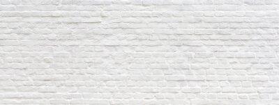 Obraz Biel malujący stary ściana z cegieł panoramiczny tło