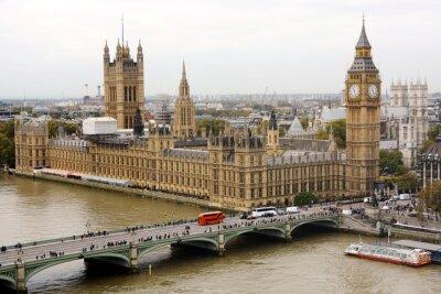 Obraz Big Ben und Pałac Westminsterski w Londynie