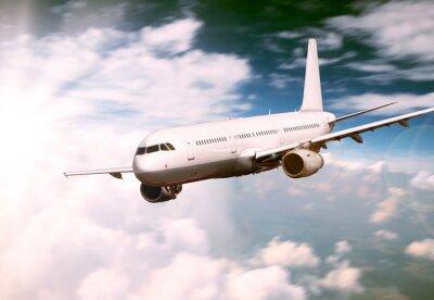 Obraz Big Jet latania samolotem nad chmurami
