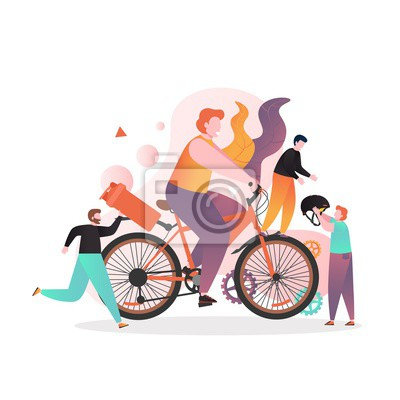 Bike and cycle accessories vector concept for web banner, website page