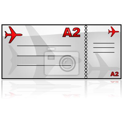Obraz Bilet Lotniczy Na Wymiar Sztuka Pusty Pusty Redropl