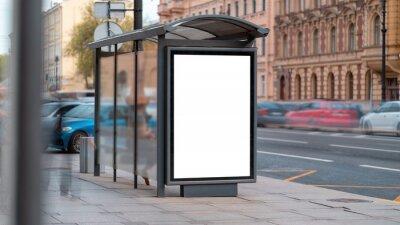 Obraz Billboard, poster mockup, in a bus stop