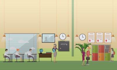 biurowy Koncepcja ilustracji wektorowych w stylu płaskiej