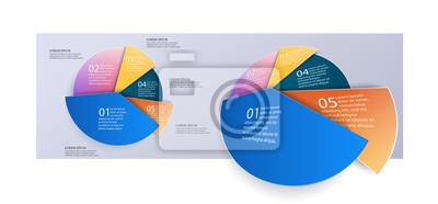 Biznes 3d wykres kołowy informacje do prezentacji i pracy biurowej. Element infografiki