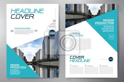 Obraz biznes broszura szablon ulotki projektowanie a4.