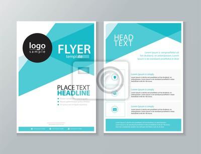 Obraz biznes broszura, ulotka, szablon raportu projektowania układu i projektu okładki