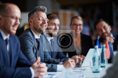 Obraz Biznes grupa na konferencji