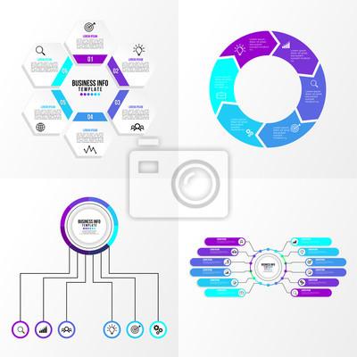 Biznes zestaw elementów infografiki szablon wektor edycji