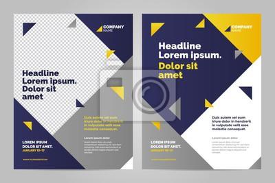 Biznesowy broszurki pojęcia ulotki projekta a4 szablon