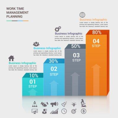 biznesu ilustracji wektorowych infografiki. może być stosowany do przepływu pracy układu, transparent, schemat, opcji numerycznych, zintensyfikować opcje, projektowanie stron internetowych.
