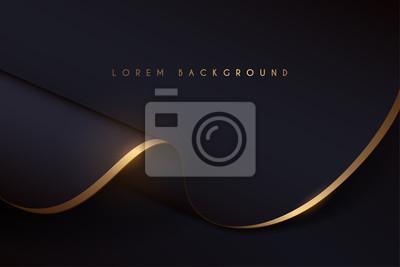 Obraz black and gold cloth background