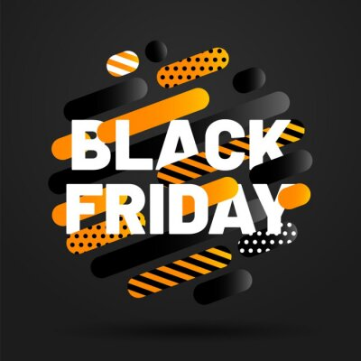 Black Friday Sale and discount banner design. Concept of sale, clearance and discount. Vector illustration.
