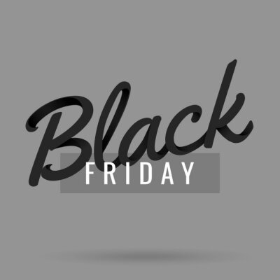 Black Friday Sale and discount banner design with 3d lettering. Concept for sale banners, posters, cards.