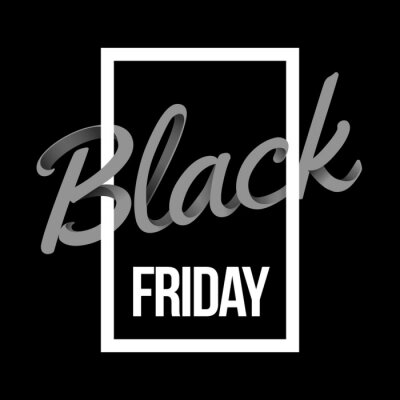Black Friday Sale and discount banner design with lettering. Concept for sale banners, posters, cards.