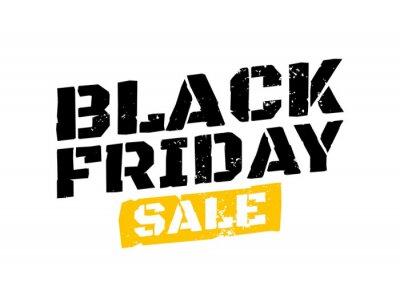 Black Friday sale inscription design template. Black Friday typography banner. Vector illustration eps 10.