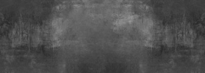 Obraz black grey anthracite stone concrete texture background panorama banner long
