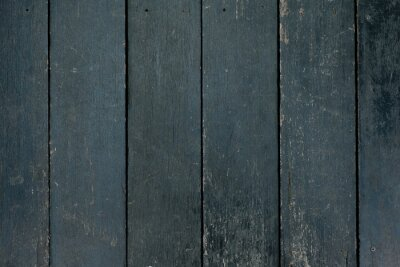Obraz Black wooden wall