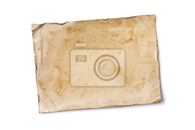 Obraz Blank old yellowed paper mockup for vintage photo or postcard