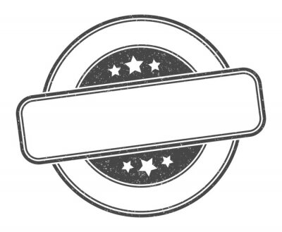 Obraz blank stamp. blank round grunge sign. label