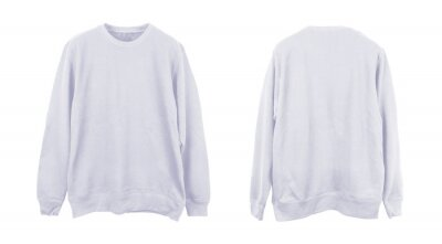 Obraz Blank sweatshirt color white template front and back view on white background