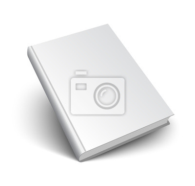 Obraz blank vector book on white