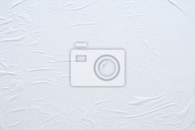 Obraz Blank white crumpled and creased paper poster texture background