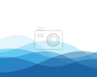 Obraz Błękita falowego pojęcia abstrakcjonistyczny wektorowy tło