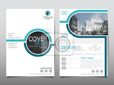 Obraz Błękitna ulotka okładka broszura biznesowa wektora projektu, ulotki reklamowe streszczenie tle, plakat nowoczesnych plakatów szablonu, roczne sprawozdanie z prezentacji.