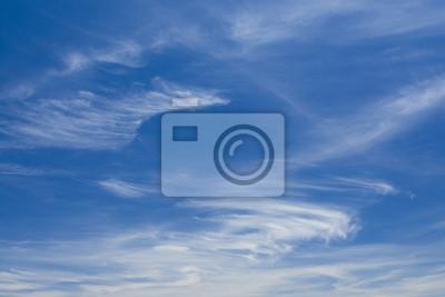 Obraz Błękitne niebo i białe chmury
