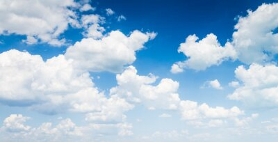 Obraz Błękitne niebo z chmury z bliska