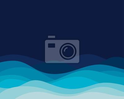 Obraz Błękitnej fala pojęcia abstrakcjonistyczny wektorowy tło