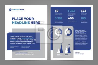 Błękitny Biznesowy broszurki pojęcia ulotki projekta a4 szablon