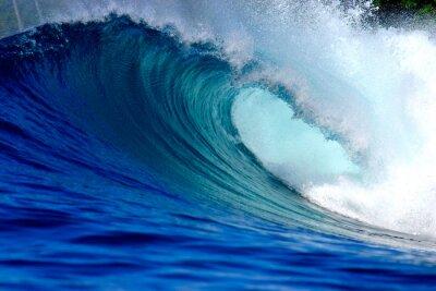 Obraz Błękitny ocean wave surfingu