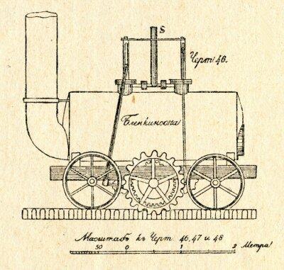 Obraz Blenkinsop'a stojak lokomotywa