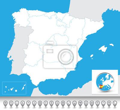Blind map of Spain