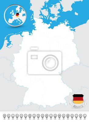 Blind mapa Niemiec